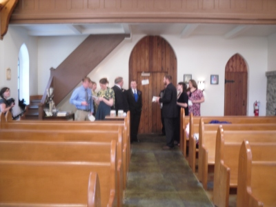 Church Interior -- Waiting on the Bride