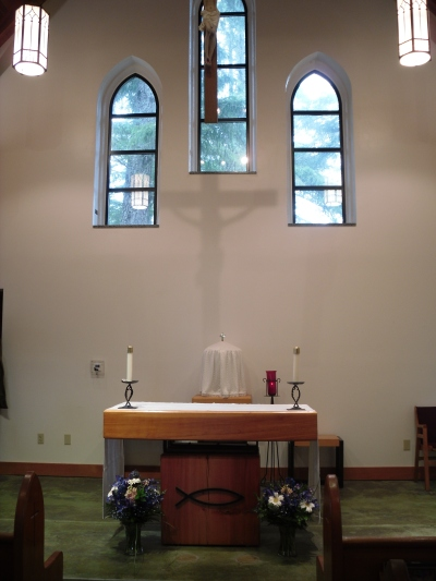 Church Interior -- Altar