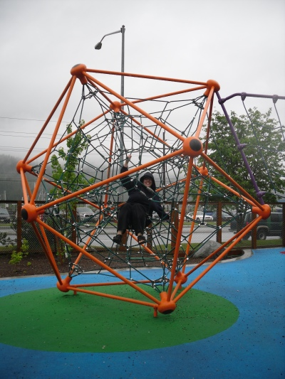 Icosahedral Playground Climbing Equipment -- With Me In It