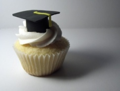 Grad Cap Cupcake